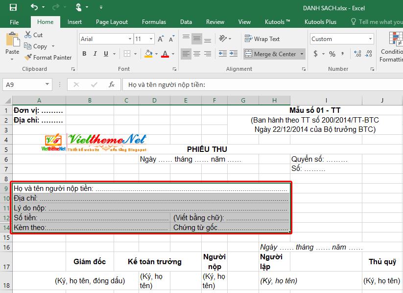 Tạo dấu gạch chấm hàng loạt trong Excel với 1 thao tác đơn giản