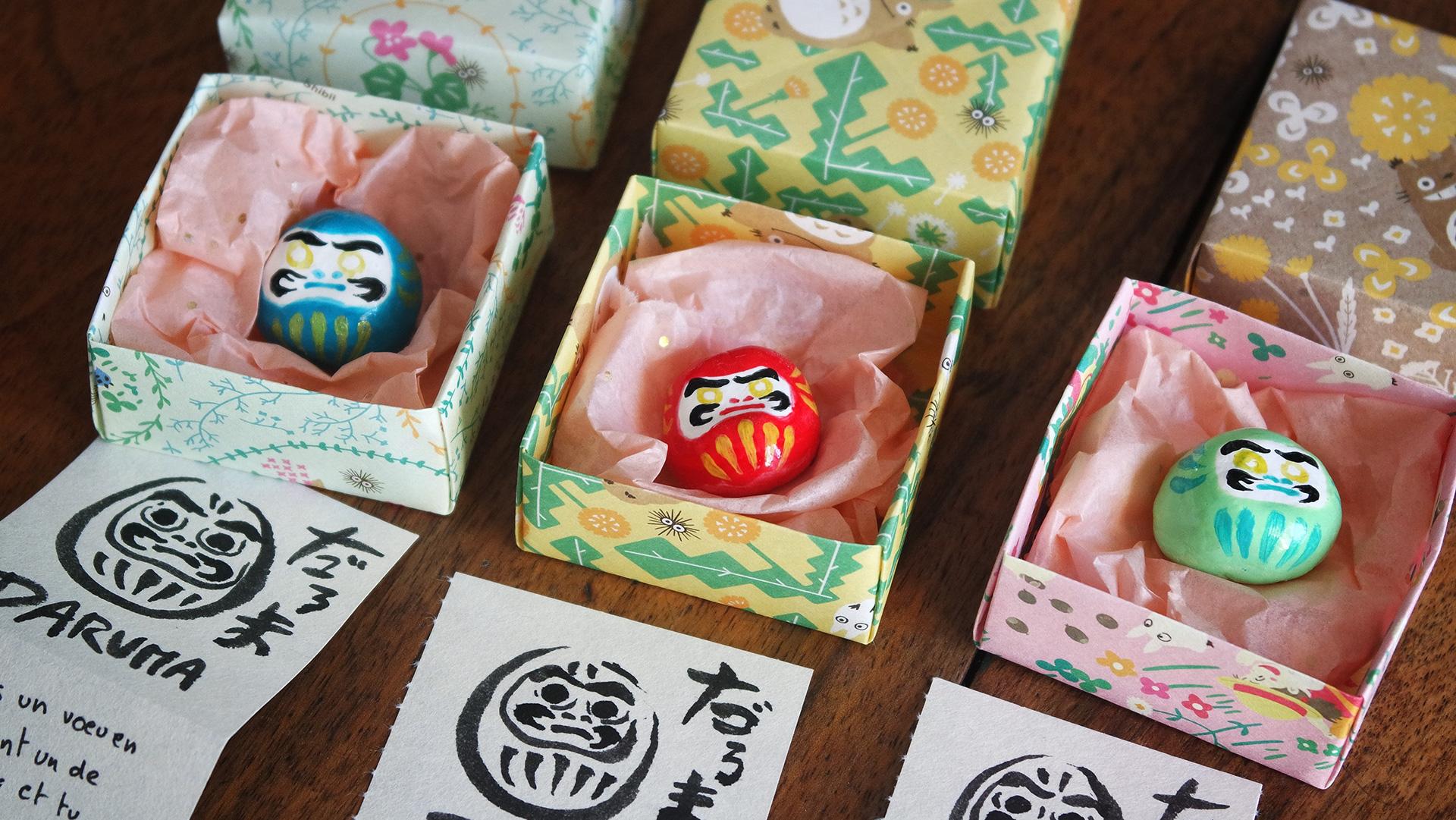 Daruma and origami