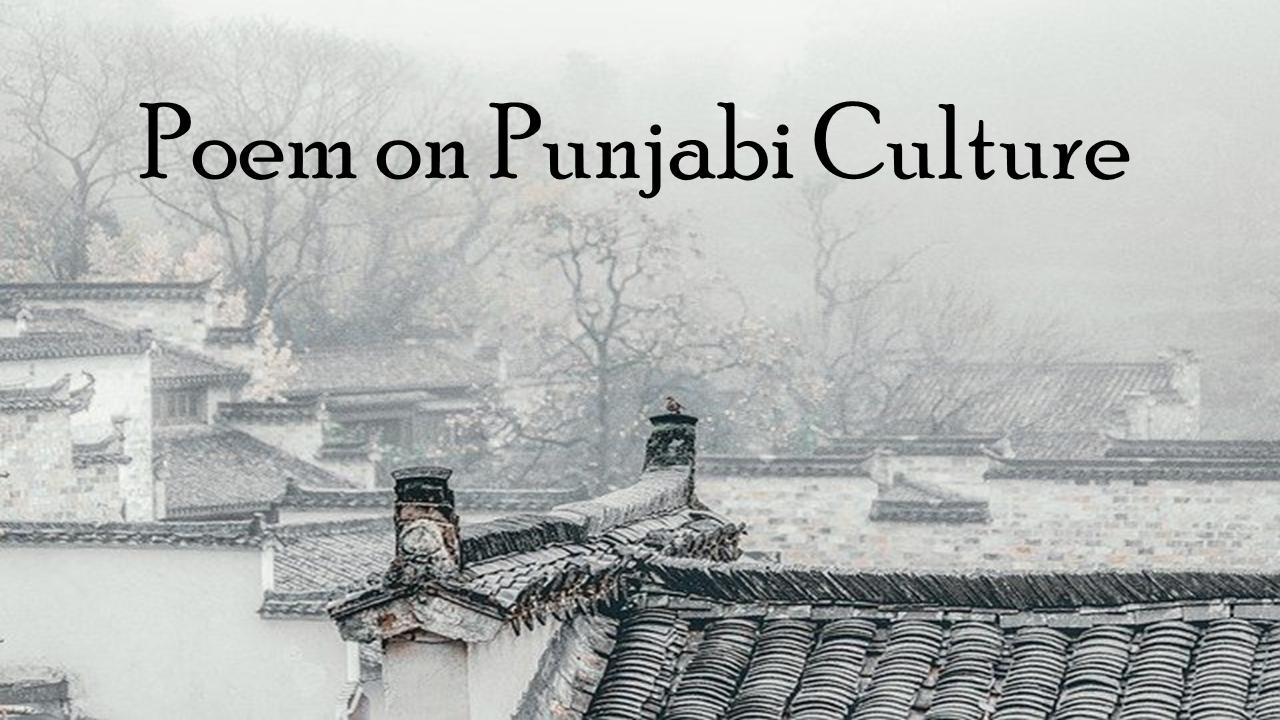 Poem on Punjabi Culture