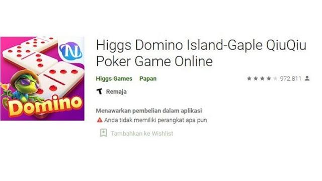 Cara Ganti Password Higgs Domino Island