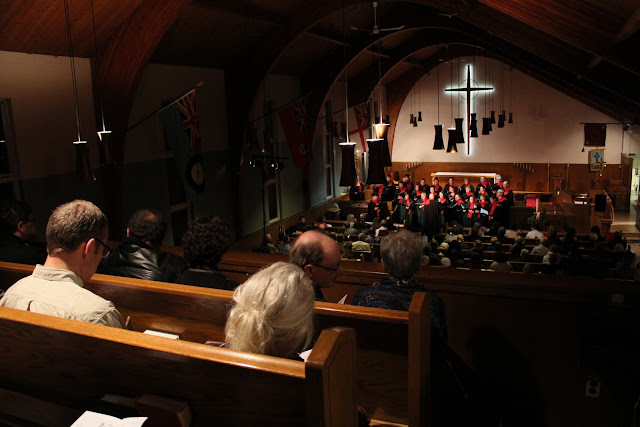 St. Columba Xmas concert - packed to the rafters!
