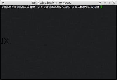 Lalu edit file mail.conf