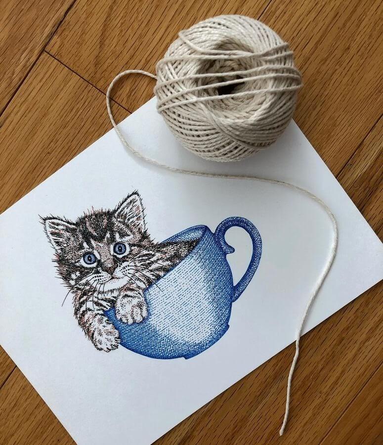 11-Kitten-in-a-cup-Diane-Swartzberg-www-designstack-co