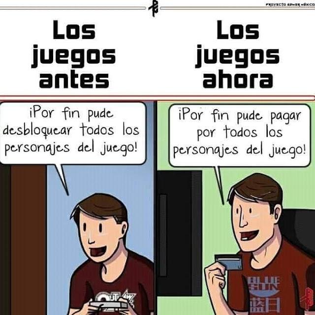 El antes y el después de los gamers!