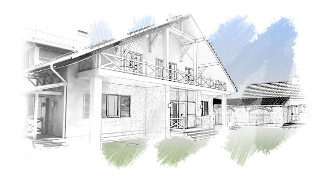 2-х этажный дом в стиле Шале с тёплым переходом к оранжерее