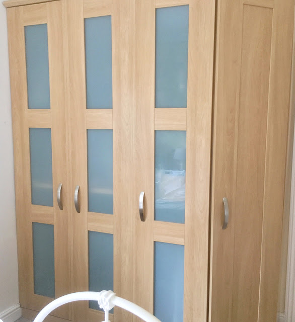 how to paint mdf laminate melamine wardrobes using rustoleum chalk paint and primer to create a traditional vintage style piece of furniture