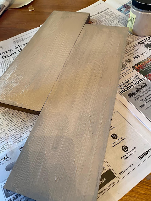 Photo of painted boards