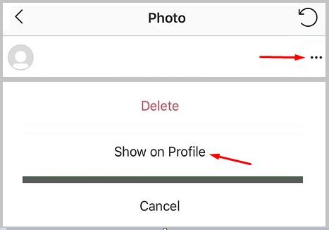 restore post Show on Profile