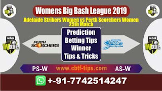 Who will win Today WBBL 2019, 25th Match AS W vs PS W 25th, WBBL T20 2019