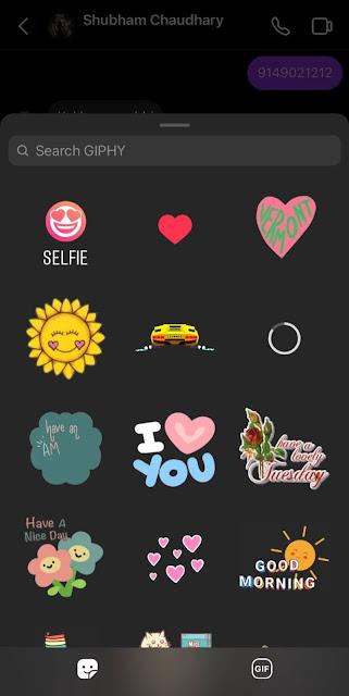 Choose selfie sticker