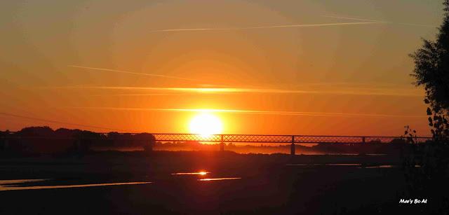 Coucher de soleil magique sur la Loire
