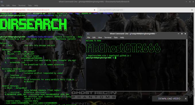 Dirsearch - Web Path Scanner Tested BackBox 6 GNU/Linux