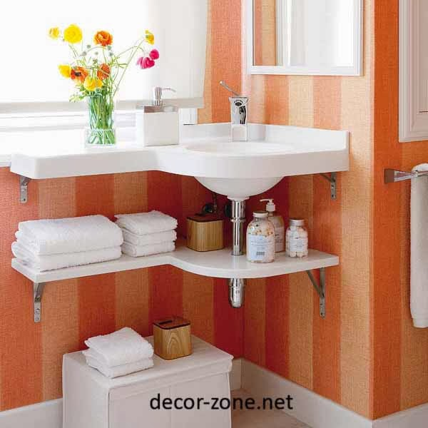 bathroom towel storage, bathroom shelves under the sink