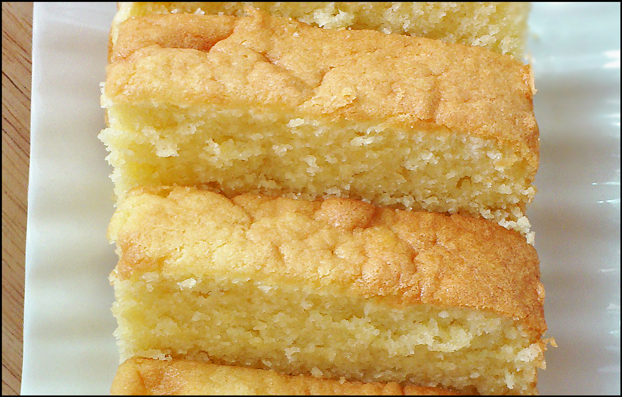 slices of butter cake