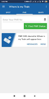check the PNR status by just adding your PNR No