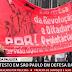 MANIFESTANTES EM DEFESA DA 'DEMOCRACIA' CARREGAM FAIXA EM 'DEFESA DA DITADURA'