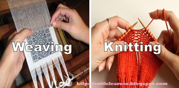 Knitting And Weaving Differences : Weaving and knitting compare difference between
