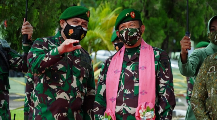 Arahan Pangdam Hasanuddin : Jaga Nama Baik Satuan, Saat Kunjungan ke Korem 143/HO