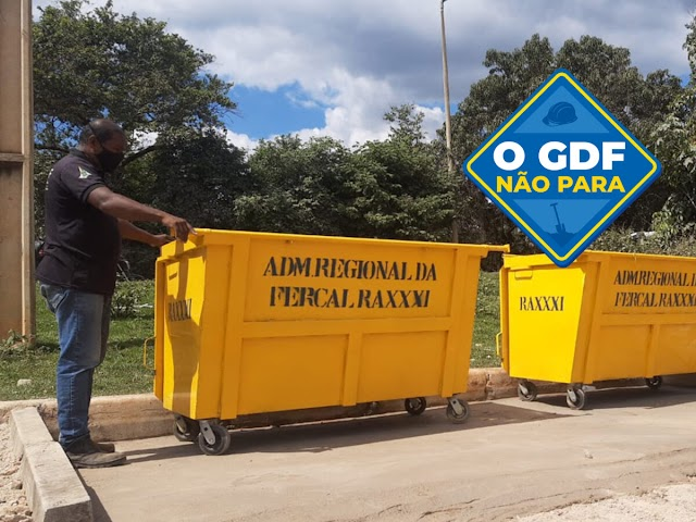 O GDF faz a instalação de Quinze novos contêineres de lixo espalhados pela Fercal