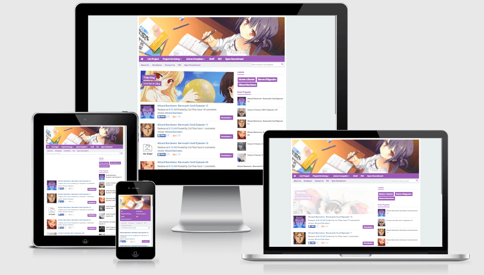 FAN BASE - Responsive Anime Blogger Template