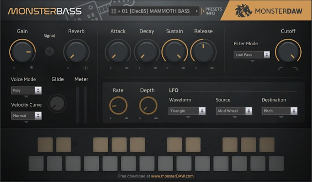 MonsterDAW MONSTER Bass v1.0 x32 x64 VST AU [FREE]