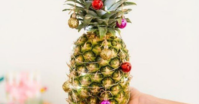 Don't Have Space For a Christmas Tree? Decorate a Pineapple Instead