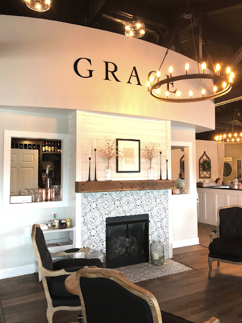 Grace Coffee and Wine's entry makes you feel both at home and like you are somewhere special at the same time.