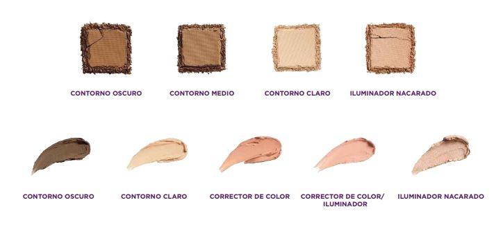 tonos y texturas de la Naked Skin Shapershifter