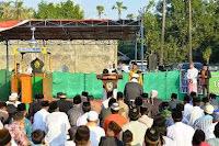 Di Lambu, Bupati Bima Shalat Idul Adha Bersama Ketua MK RI