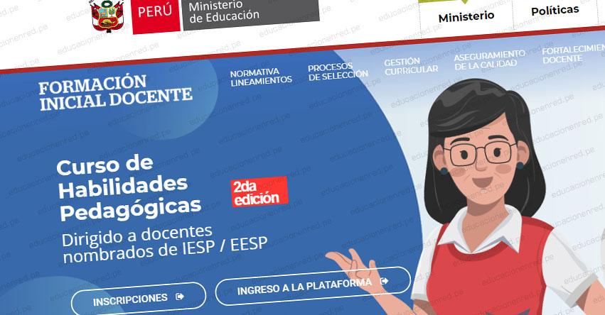 MINEDU: Curso de Habilidades Pedagógicas [ÚLTIMO DÍA INSCRIPCIÓN 13 NOVIEMBRE] www.minedu.gob.pe