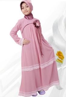 Model busana muslim anak perempuan modis