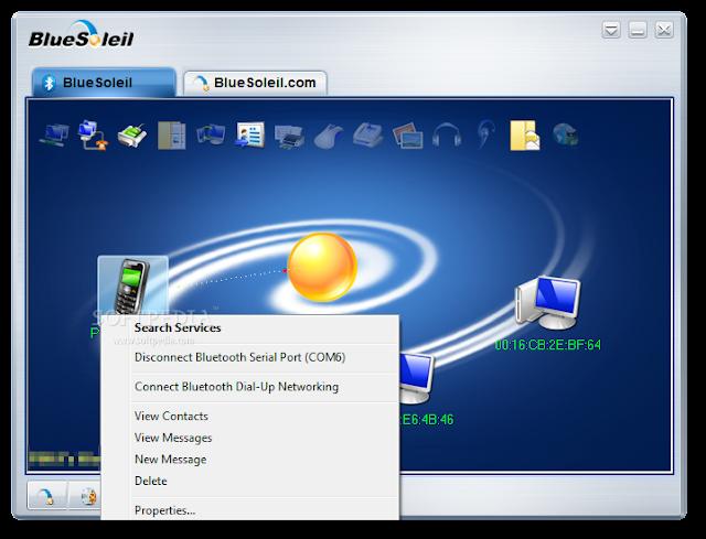 تحميل برنامج نقل الملفات الى الجوال والكمبيوتر BlueSoleil 10