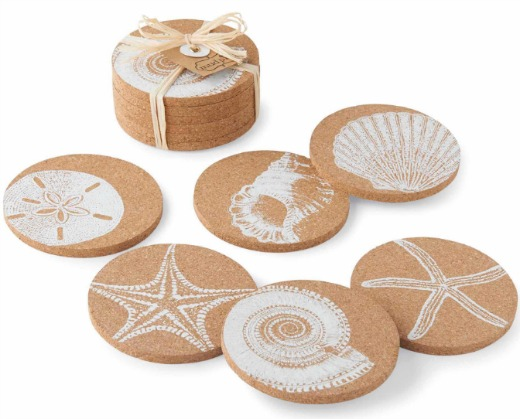 Beach Cork Coasters