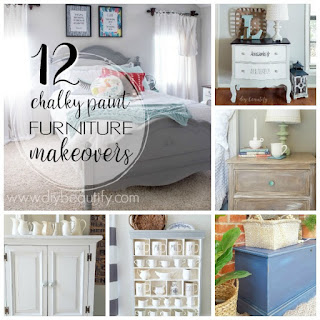 Twelve of my favorite chalky paint furniture makeovers...before and after!