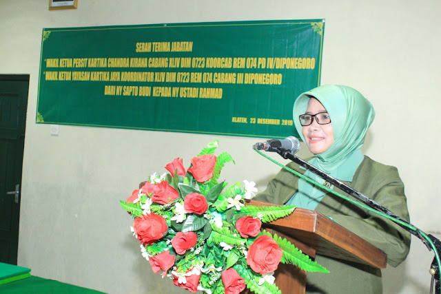 Ny Lilik Minarso Pimpin Sertijab Wakil Ketua Persit KCK Cab XLIV