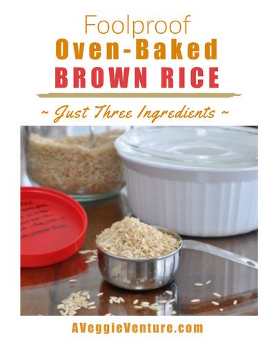 Cook's Illustrated's recipe for Foolproof Oven-Baked Brown Rice ♥ AVeggieVenture.com, turns out moist, nutty and perfect every time. Rave reviews from home cooks everywhere.