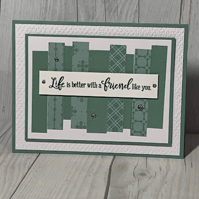 Handmade greeting card using Soft Succulent prints from Stampin' Up!