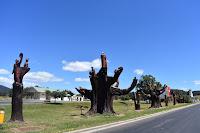 Carved Memorial Trees in Legerwood by Eddie Freeman