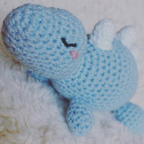 Peluche para bebé, Dinosaurio para regalar, amigurumi fantasía.Baby ...