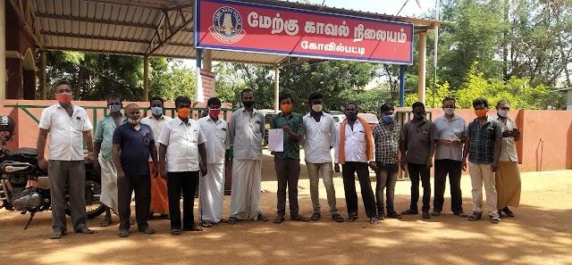 RSS Kovilpatti Nagar Karyavah files petition on Christian Social Media Post for 'remand death' in Sathankulam