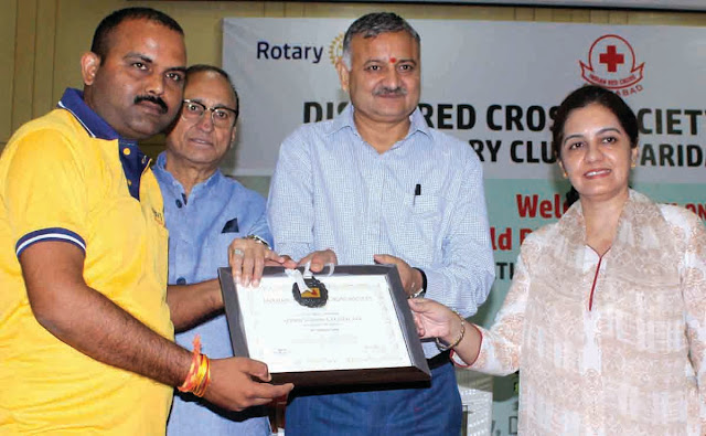 District Administration and Raidras have honored Santosh Yadav on World Raknad Day