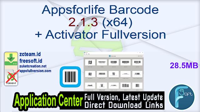 Appsforlife Barcode 2.1.3 (x64) + Activator Fullversion