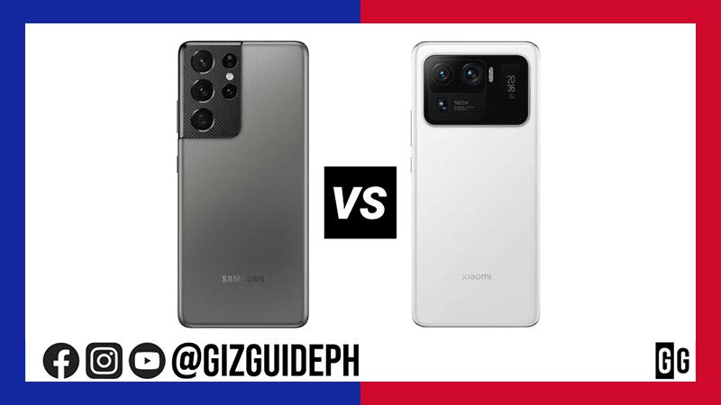 Samsung Galaxy S21 Ultra vs Xiaomi Mi 11 Ultra Specs Comparison