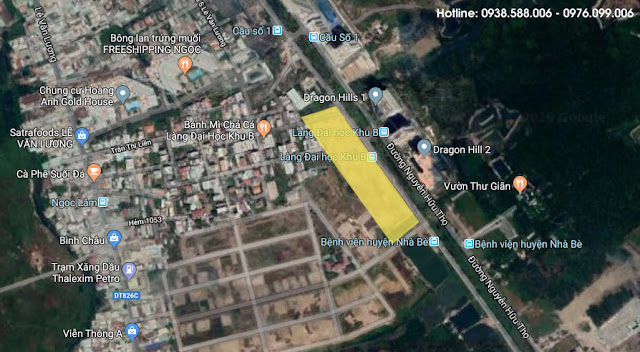 Vị trí dự án căn hộ Celesta Rise tại Nhà Bè (google maps).