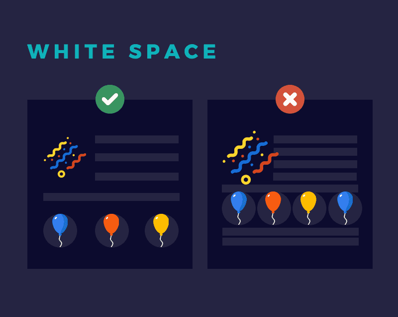 The Significance of White Space (AKA negative space) In Design