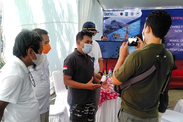 Mulai hari ini, pelabuhan Kayangan-Poto Tano resmi gunakan Kartu Elektronik
