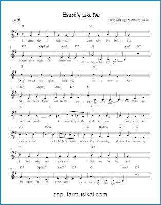 Exactly Like You chords jazz standar