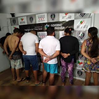 Grupo é preso suspeito de homicídios após a polícia deflagrar operação no Sertão da Paraíba e DF