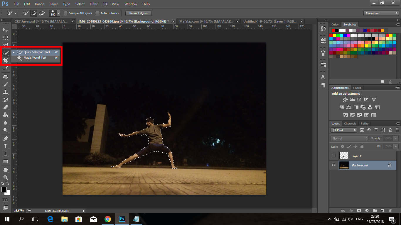 Cara Membuat Tulisan CRIS7ANO Ala Juventus Di Photoshop - 9