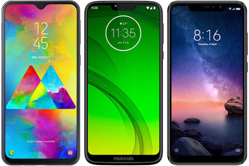 Samsung Galaxy M20 vs Motorola Moto G7 Power vs Xiaomi Redmi Note 6 Pro 64G